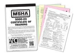 apc 5000 23 u2013 msha certificate of training