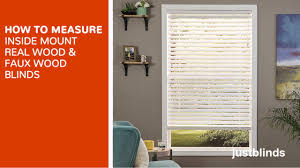 how to measure for inside mount wood u0026 faux wood blinds