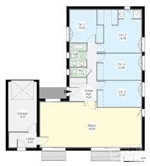 plan de maison en v plain pied 4 chambres plan maison plain pied en v maison modernes