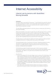 Is Being Blind A Disability Internet Accessibility Internet Use By Persons With Disabilities