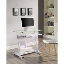 Small Computer Desk White Small White Computer Desk Metal Glass Keyboard Shelf Bedroom