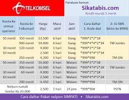 kode kuota gratis telkomsel paket nelpon telkomsel murah cara daftar 2017 sikatabis com