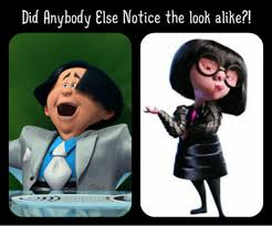 Edna Meme - the look alike between o hare and edna mode by girlshadowlover on