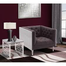 Silver Table Ls Living Room Bellagio Sofa Chair In Gray Wash Wood Finish With Shiny Silver