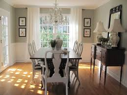 Two Tone Gray Walls by Dining Room Paint Colors With Chair Rail Google Search Forever