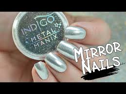 how to make mirror nails chrome effect with metal manix youtube