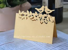 Place Cards Wedding Aliexpress Com Buy Love Birds Name Cards Wedding Place Cards