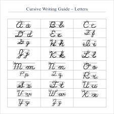 cursive writing template u2013 8 free word pdf documents download