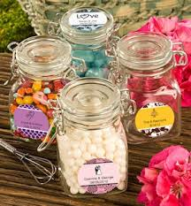 jar favors personalized apothecary jar wedding favors
