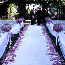purple aisle runner 150 ft wedding bridal satin aisle runner 22 colors decoration