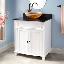 white freestanding sink vanity signature hardware