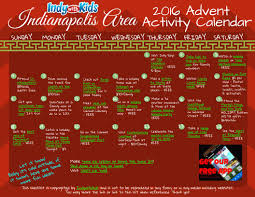 indianapolis area advent activity calendar for kids and families