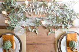 Thanksgiving Table Neutral Thanksgiving Table With Seeded Eucalyptus Seeking