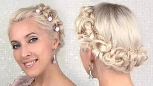 cute prom hairstyle for medium length hair easy prom wedding updo