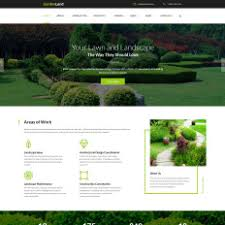 responsive garden design website templates