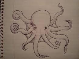 sketch of an octopus by ifiwereawizard on deviantart