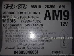 Kia Mobis Soul Airbag 95640 95910 2k350 Mobis 2k959 10350 Continental 5wk44178