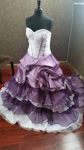 purple white wedding dress purple wedding dresses
