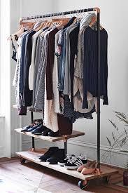 wardrobe racks extraordinary garment storage rack covered clothes
