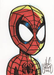 chris g daily sketch card spider man chris giarrusso