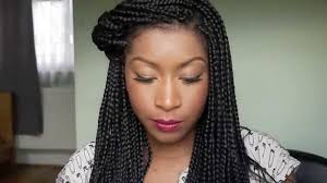 hairstyles for block braids how i style my box braids youtube