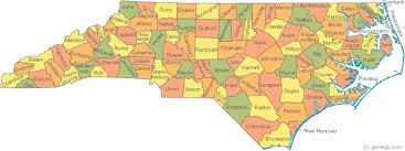 map of carolina