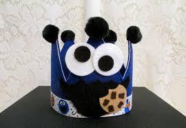 cookie monster felt crown birthday crown boy or cookie