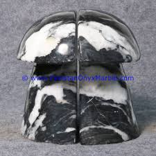 marble bookends mushroom shaped handcarved unique designs natural