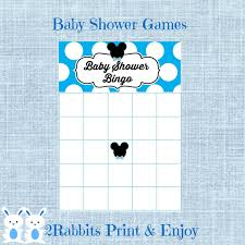 mickey mouse baby shower bingo blank cards mickey mouse