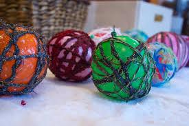 diy yarn ornaments science craft