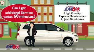 toyota motor services avail additional services within 60 minutes toyota em60 youtube