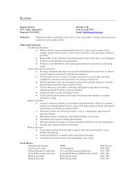 Medical Assistant Resume Skills Resume Objective Medical Assistant Position