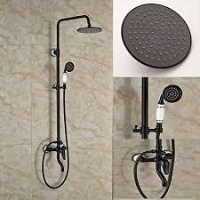 Shower Faucet Oil Rubbed Bronze Senlesen Oil Rubbed Bronze Bath Shower Faucet Set 8