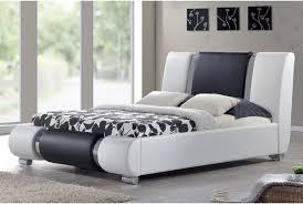 sorrento designer bed frame white u0026 black with chrome double or