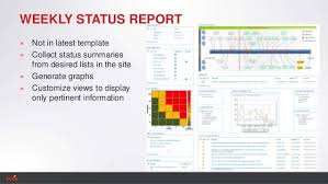 weekly status report template monthly status report template
