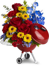 s day floral arrangements weber king of the grill by teleflora men flowers