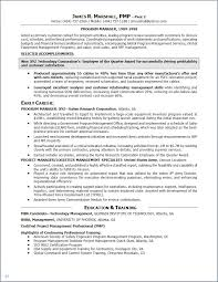 Mba Candidate Resume Certified Project Manager Sample Resume