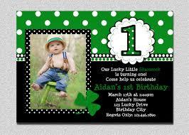 1st Birthday Invitation Card For Baby Boy St Patricks Day Birthday Invitation 1st Birthday St Patricks Day
