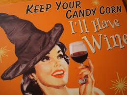 keep your candy i u0027ll have wine vintage retro style halloween witch