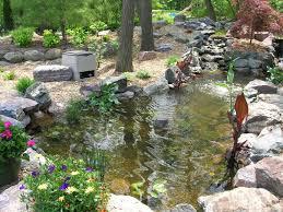 Waterfall Landscaping Ideas Pond Ideas And Design Garden Waterfall Garden Large Pond