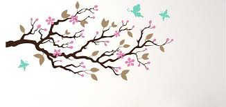 blossom tree branch wall decal