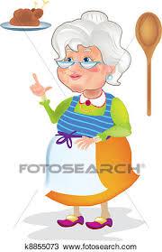 maman cuisine clipart grand maman cuisine k8855073 recherchez des clip arts