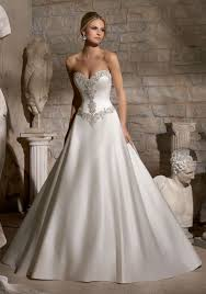 morilee bridal diamante beaded embroidery on duchess satin style