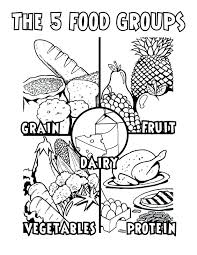 healthy food coloring pages preschool healthy foods coloring pages educational coloring pages
