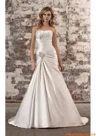 robe de mari e satin robe de mariée satin drapés strass laçage