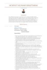 Purchasing Resume Comprador Exemplo Cv Visualcv Retomar Amostras De Banco De Dados