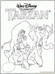 coloring pages alluring tarzan coloring jane 2 82930