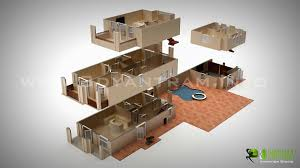 2 story 3d home plans with nice simple bedroom house design floor