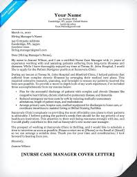 cover letter for sending resume by email nurse case manager sample