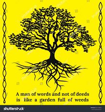 tree roots quote man words not stock vector 647275600 shutterstock